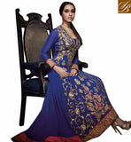 SHRADDHA KAPOOR IN BLUE ANARKALI SALWAR KAMEEZ DRESS