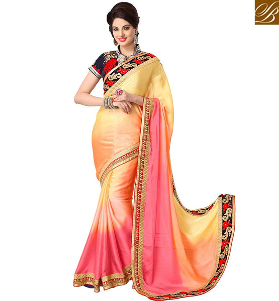 ELEGANT HALF AND HALF DESIGNER SARI RTMDV1211 BY STYLISH BAZAAR