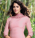 EVERSTYLISH DESIGNER LINEN KURTI WITH EMBROIDERED NECKLINE & BOTTOM