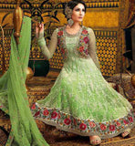 SALWAR DESIGNS 2015 EMBROIDERED KOTI STYLE NET PARTY WEAR ANARKALI