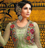 SALWAR DESIGNS 2015 EMBROIDERED KOTI STYLE NET PARTY WEAR ANARKALI BLFS124