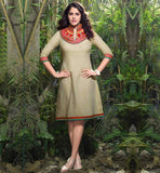 ONLINE SHOPPING FROCK PATTERN THREE FOURTH SLEEVE KURTIS FOR WOMEN