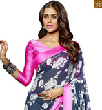 BROUGHT TO YOU BY STYLISH BAZAAR SUPERB DESIGNER FLOWERY PRINT SARI DESIGN FOR PARTIES RTMAS12713