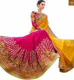 FROM THE HOUSE STYLISH BAZAAR GORGEOUS PARTY WEAR DESIGNER SAREE RTHYB1300