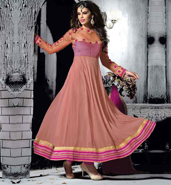 LATEST FASHION PARTY WEAR ANARKALI SALWAR KAMEEZ AT REASONABLE RATE