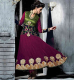 UNIQUE PATTERN HIGH NECK STYLISH PARTY WEAR ANARKALI SALWAR KAMEEZ