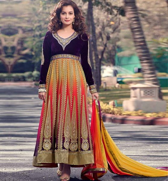 IRRESISTIBLE  DIA MIRZA HEAVY ANARKALI RTVI13006 - stylishbazaar- online shopping for salwar suits, online shopping for salwar kameez dress, online shopping of salwar kameez, online shopping salwar suits, online shopping of salwar kameez suits