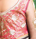 SAREE BLOUSE BACK DESIGNS WITH EMBROIDERY