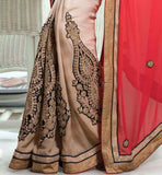 rich look designer saree with blouse online shopping