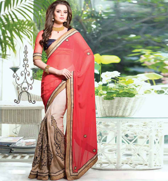 HEAVY EMBROIDERY PARTY WEAR SAREE BLOUSE DESIGNS ONLINE SHOPPING