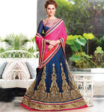 BEAUTIFUL WEDDING WEAR LENGHA SAREE BLOUSE DESIGNS AT CHEAP RATES