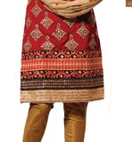 FROM THE HOUSE OF STYLISH BAZAAR ENTHRALLING DESIGNER RED SHORT SALWAR KAMEEZ RTMSR1302