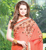 EXCITING OCCASION WEAR SAREE WITH HEAVY EMBROIDERY ON PALLU