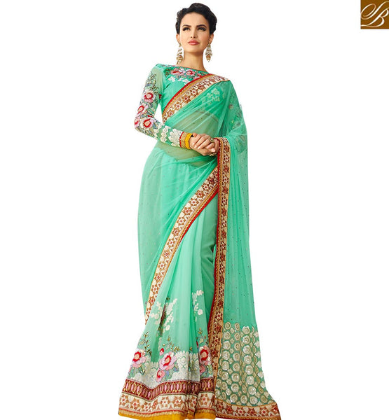 BROUGHT TO YOU BY STYLISH BAZAAR EXQUISITE BRIGHT COLOR SARI BLOUSE DESIGN FOR PARTIES RTHYB1305