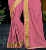 THIS SAREE IS SUITABLE FOR PARTIES AND GATHERINGS. LOVELY LACE BORDER ON SAREE ADDS MORE GLAMOUR TO IT SAREES SHOPPING INDIA FREE CASH ON DELIVERY