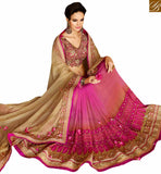 A STYLISH BAZAAR PRESENTATION MAGNIFICENT DESIGNER SAREE FOR PARTIES RTHYB1310