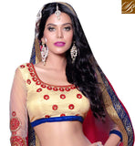 EXCELLENT CREAM CHANIYA WITH METTY GOTTA CHOLI & NET DUPATTA