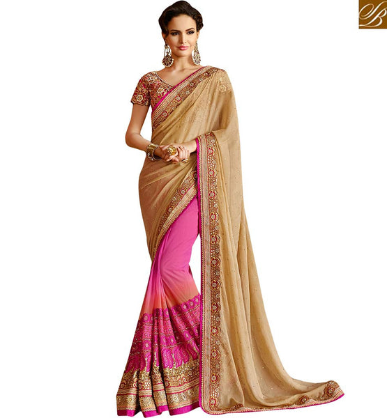 BROUGHT TO YOU BY STYLISH BAZAAR MAGNIFICENT DESIGNER SAREE FOR PARTIES RTHYB1310