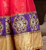 DESIGENR LEHENGA CHOLI  WITH EMBROIDERY AND LACE BORDER IMAGES
