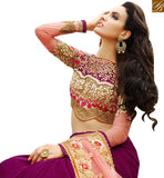 A STYLISH BAZAAR PRESENTATION WONDERFUL DESIGNER SAREE FOR PARTIES RTHYB1312