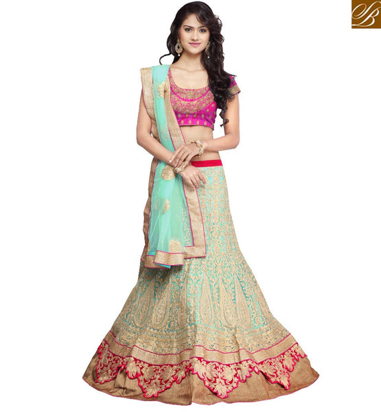 STYLISH BAZAAR CELESTIALLY BEAUTIFUL 3 PIECE LEHENGA CHOLI DESIGN RTHOT131B