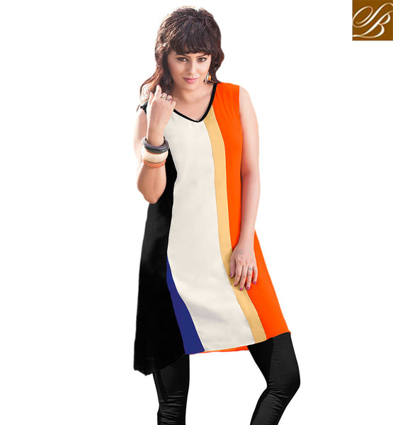 STYLISH BAZAAR COLORFUL DESIGNER PARTY WEAR KURTI RTVANI132A