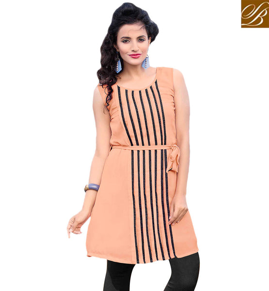 STYLISH BAZAAR STUNNING LINE PATTERNED KURTI RTVANI135A