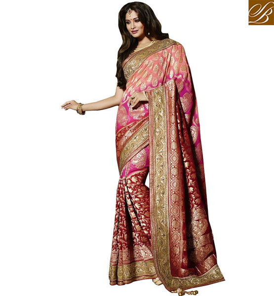 A STYLISH BAZAAR PRESENTATION LOVELY PARTY WEAR SAREE CRAFTED FOR ALL OCCASIONS RTMNM1377