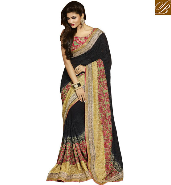 STYLISH BAZAAR MAGNIFICENT DESIGNER PARTY WEAR SARI RTMNM1378