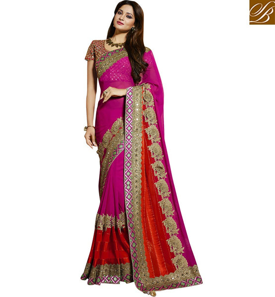 FROM STYLISH BAZAAR MARVELOUS EMBROIDERED PARTY WEAR SAREE RTMNM1379