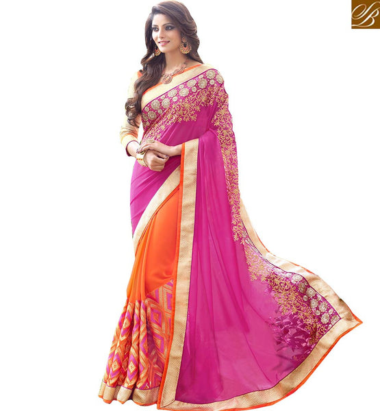 BROUGHT TO YOU BY STYLISH BAZAAR EXCEPTIONALLY WELL DESIGNED GEORGETTE DESIGNER SARI RTSPL13805