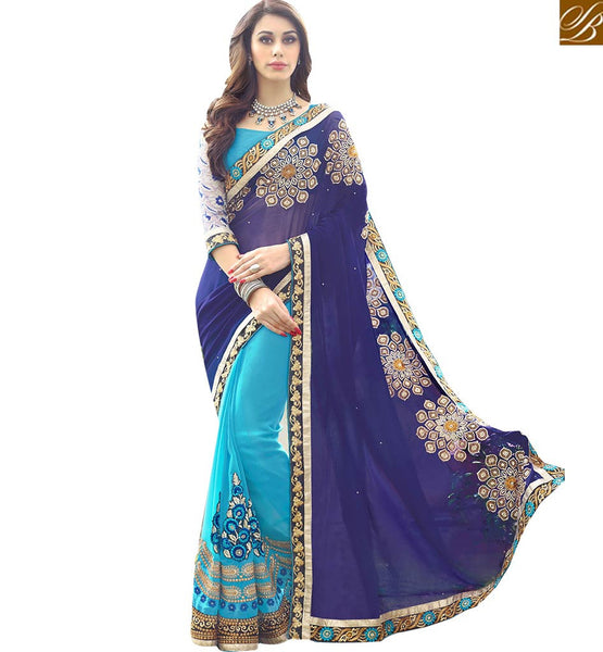 FROM STYLISH BAZAAR DESIGNER PARTY WEAR SARI BLOUSE FOR ROYAL LOOK RTSPL13806