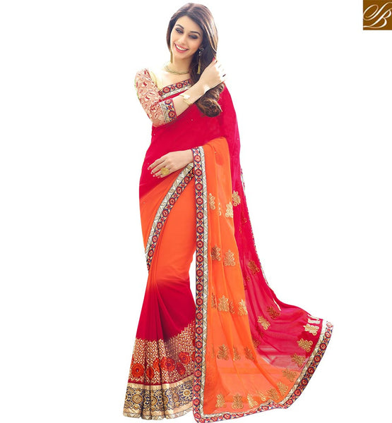 BROUGHT TO YOU BY STYLISH BAZAAR FASHIONABLE DESIGNER SAREE WITH EMBROIDERY WORK RTSPL13808