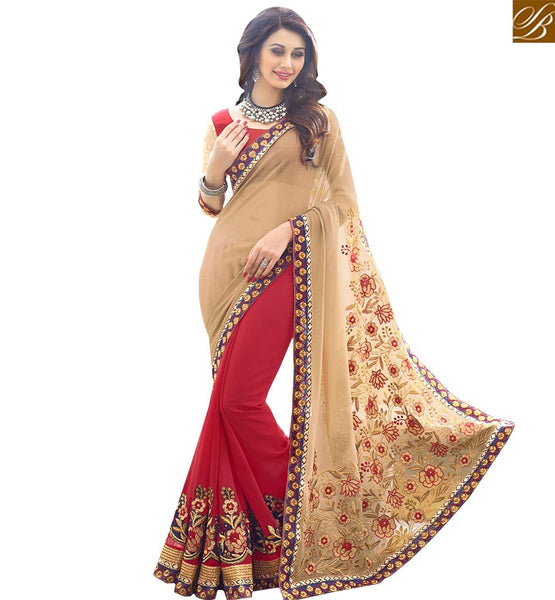 STYLISH BAZAAR STRIKING WELL EMBROIDERED SARI BLOUSE RTSPL13814