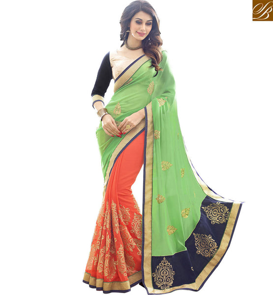 BROUGHT TO YOU BY STYLISH BAZAAR SPLENDID DESIGNER SARI BLOUSE WITH EMBROIDERY WORK RTSPL13816