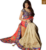 STYLISH BAZAAR SPLENDIDLY DESIGNED EMBROIDERED SAREE DESIGN RTMNM1383