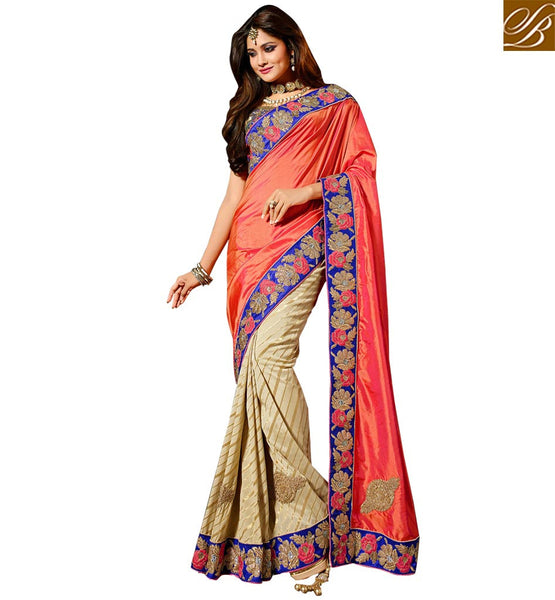 BROUGHT TO YOU BY STYLISH BAZAAR SPLENDIDLY DESIGNED EMBROIDERED SAREE DESIGN RTMNM1383