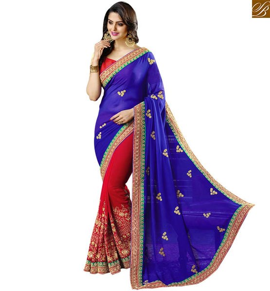 STYLISH BAZAAR TRENDY DESIGNER ONLINE INDIAN SAREE RTSPN13901