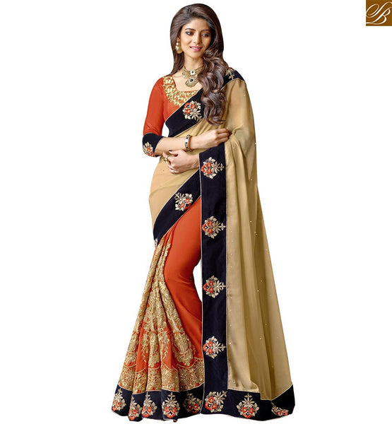 STYLISH BAZAAR ROYAL DESIGNER PARTY WEAR ONLINE SARI RTSPN13904