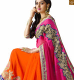 STYLISH BAZAAR INTRODUCES MAJESTIC DESIGNER SARI BLOUSE DESIGN RTSPN13906