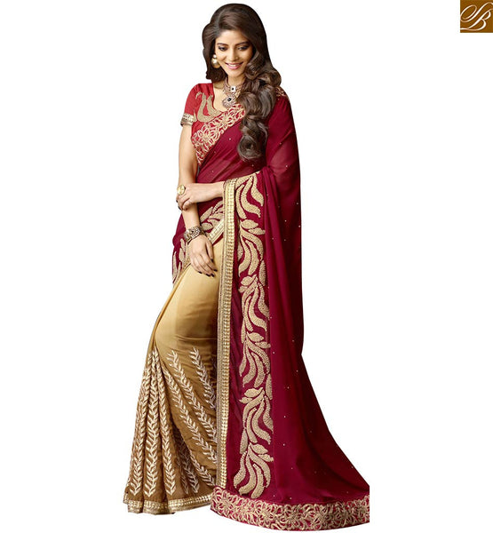 STYLISH BAZAAR GLAMOROUS DESIGNER WOMEN SAREE ONLINE SHOPPING RTSPN13907