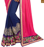 BROUGHT TO YOU BY STYLISH BAZAAR GORGEOUS LATEST DESIGNER HALF AND HALF SAREE RTSPN13916