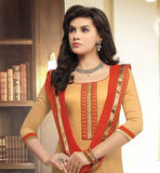 BEIGE KURTI WITH CONTRAST ORANGE SHALWAR PERFECT FOR OFFICE GOING LADIES