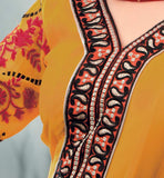 Embroidery pattern for salwar kameez yoke designs.
