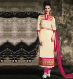 party wear straight cut salwar kameez