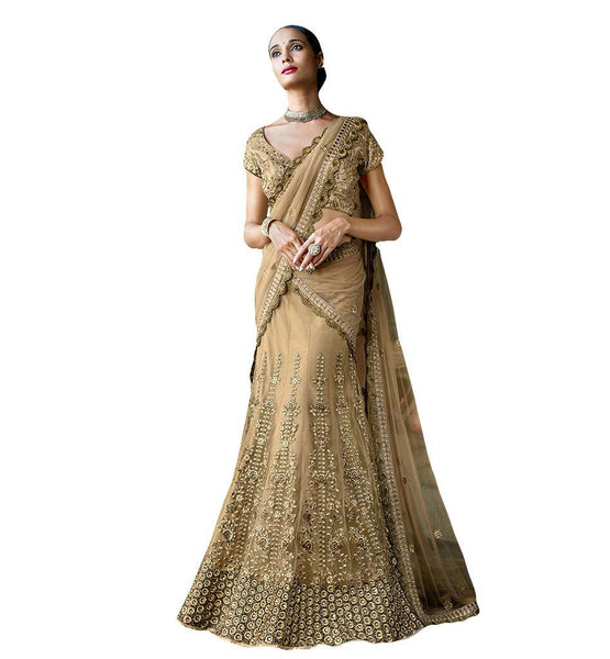 STYLISH BAZAAR EXQUISITE EXCEPTIONALLY WELL DESIGNED BRIDAL LEHENGA SAREE NKGR5051