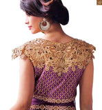 HOUSE OF STYLISH BAZAAR ROYAL PURPLE DESIGNER EMBROIRED SALWAR KAMEEZ FROM ZOYA ELITE PFEL14002 FROM STYLISH BAZAAR