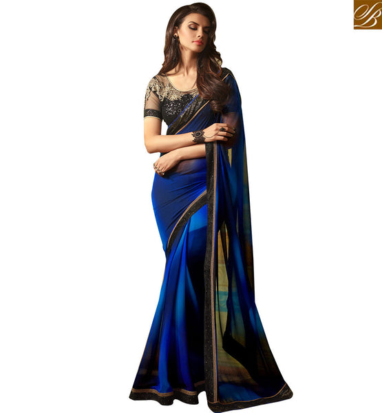BROUGHT TO BY STYLISH BAZAAR STUNNING DESIGNER SAREE FOR PARTIES RTSSC14003