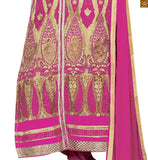 Pink colored art silk straight karachi style salwaar kameez this pink dress is perfect choice for any occasion. Cream and pink art silk and net kameez, experimented with ethnic design of butas Pic