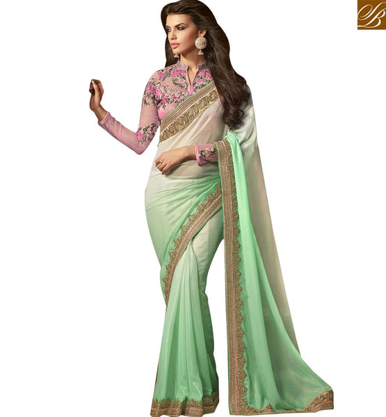 BROUGHT TO YOU BY STYLISH BAZAAR APPEALING DESIGNER SAREE ESPECIALLY FOR PARTIES RTSSC14005